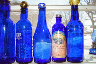 Blue Bottles in Studio