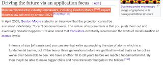 صفحة عن سرعة الأجهزة وقانون موور على ويكيبديا