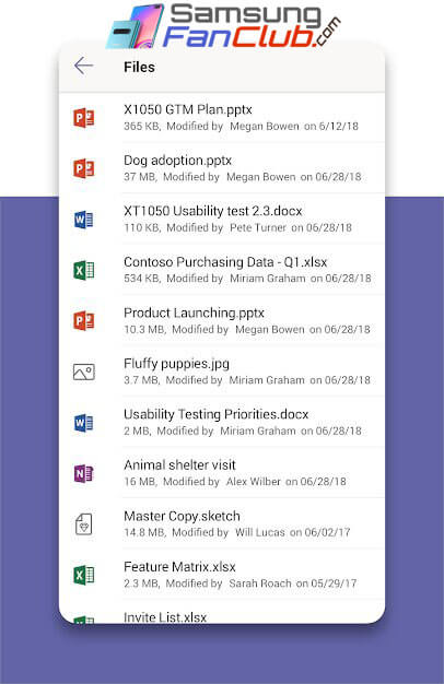 Download Microsoft Teams for Android Samsung Galaxy S10 Plus
