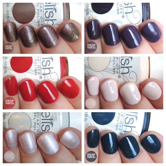 Gelish Forever Marilyn collection swatches + review