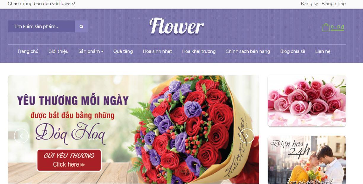 Giới thiệu theme bán hoa cây cảnh đẹp chuẩn seo 2020
