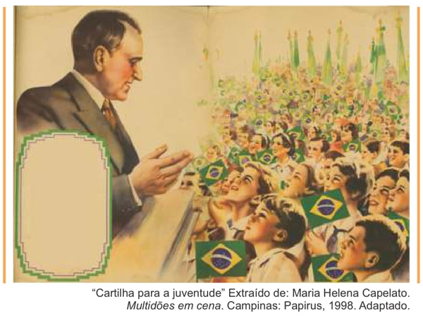 Cartilha para a juventude Extraído de Maria Helena Capelato. Multidões em cena. Campinas Papirus, 1998. Adaptado.