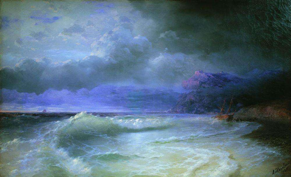 17-Wave-1895-Ivan-K-Aivazovsky-Иван-К-Айвазовский-Paintings-of-the-Sea-from-1840-to-1900-www-designstack-co