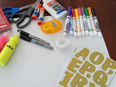 craft supplies for project