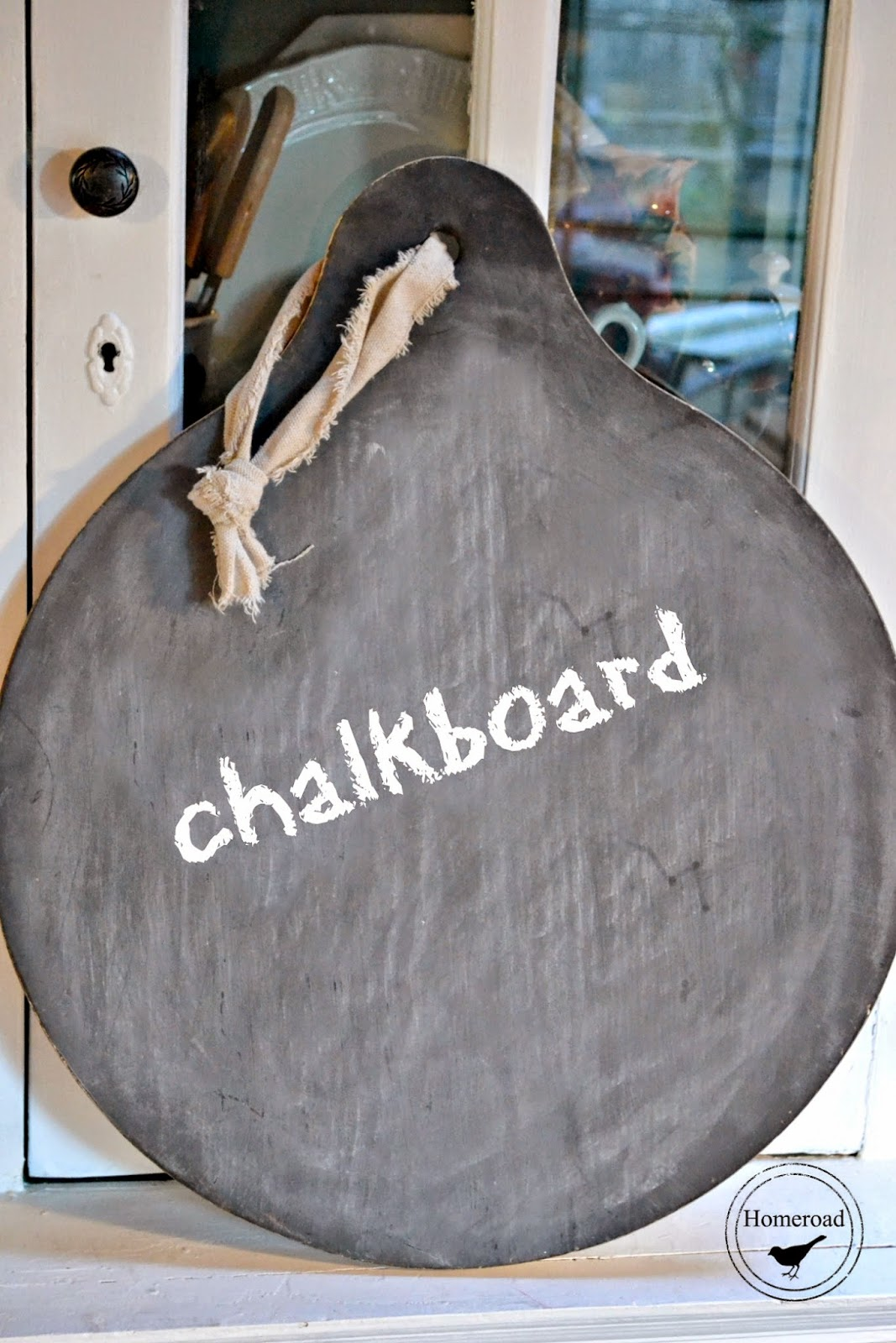 Two sided wine barrel chalkboard www.homeroad.net