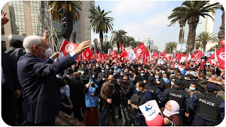 راشد الغنوشي :''هذه المسيرة العظيمة ستبقى في التاريخ'' يجب أن نعلم أولادنا دين الإسلام صحيح