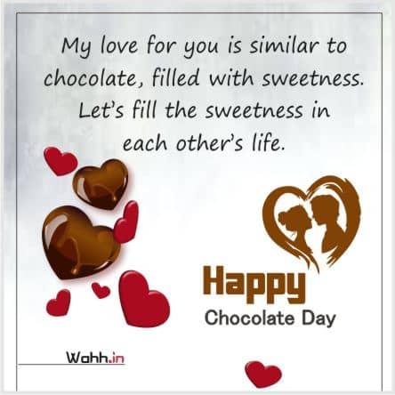 Chocolate Day Status for Whatsapp
