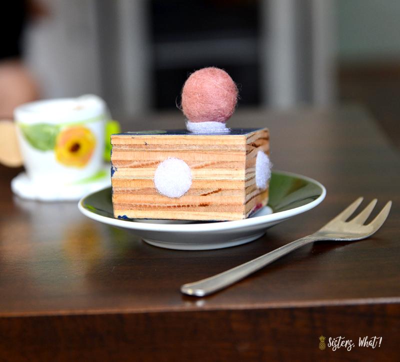 modern wood play cake set