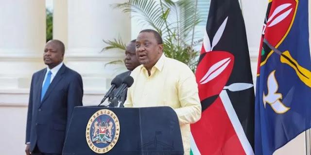 President Uhuru Kenyatta on statehouse address