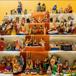 Golu Stands with Golu Dolls