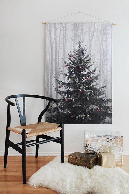 Árboles de Navidad low cost pintados