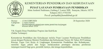 Daftar Nama Guru Non PNS Calon Penerima Tunjangan Khusus Tahun 2020