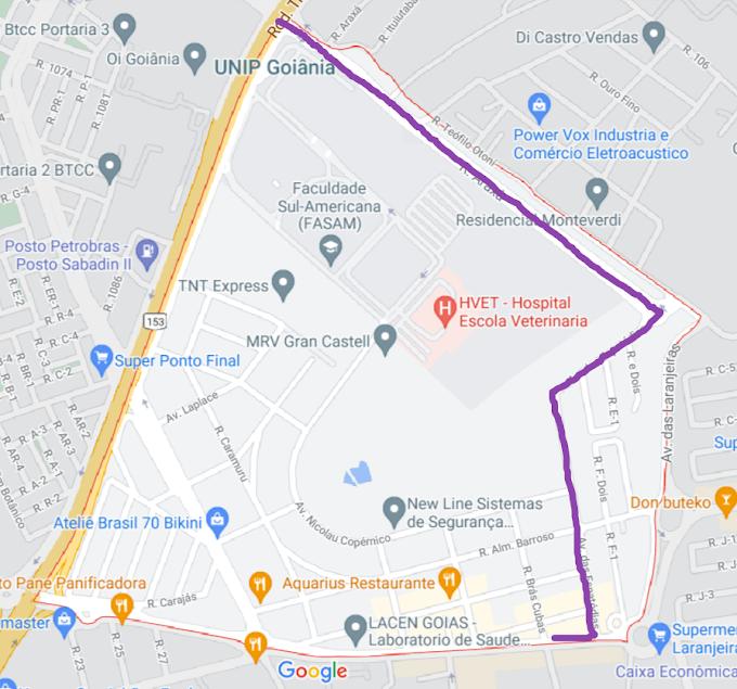 Mapa real do Jardim da Luz