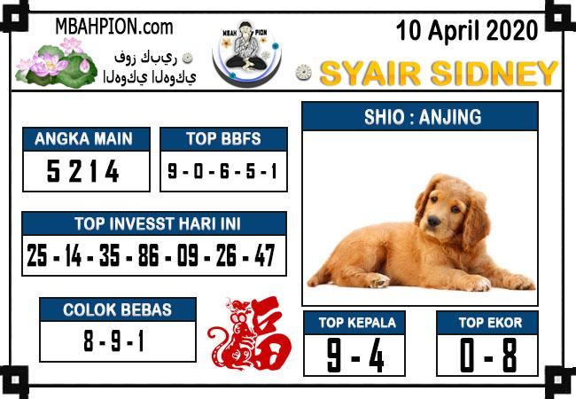 Syair Sidney Jumat 10 April 2020 - Syair Mbah Pion