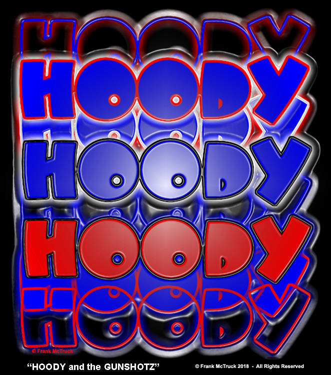 "Frank McTruck color logo - ""Hoody and the Gunshotz"""