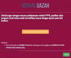 Verval Ijazah S1/D4 Info GTK Kemdikbud