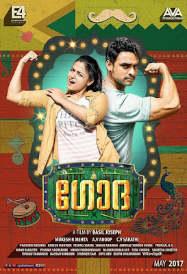 Godha 2017 Malayalam 480p DVDRip 400MB With Bangla Subtitle