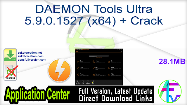 DAEMON Tools Ultra 5.9.0.1527 (x64) + Crack