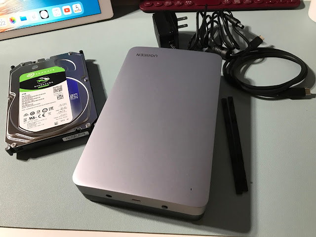USB typeC HDDケース&4TB HDD中身