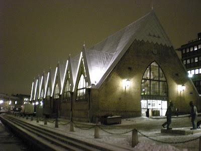 mercado de pescado en gotemburgo en invierno