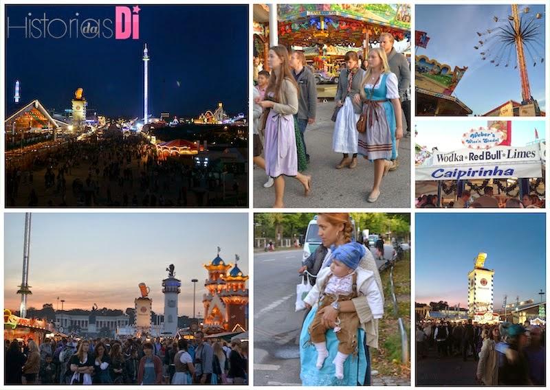 Encantos da enorme festa alemã - Oktoberfest