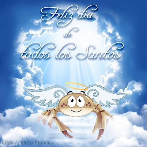 Feliz día de todos los santos - Imagen para compartir en redes sociales