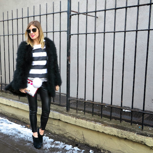 What to Wear: Mixed Stripes & Feathers