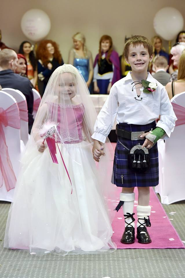 Terminally ill Scottish girl has fairytale 'wedding'