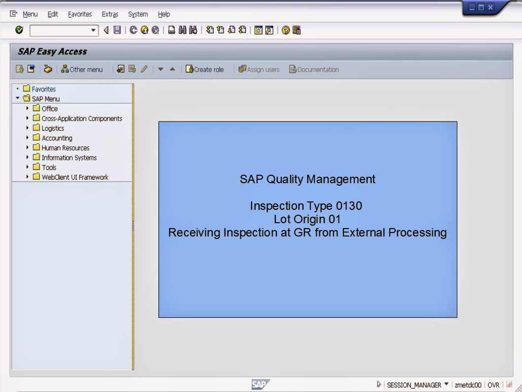 Sap Learning Amp Examination Sap Erp Qm Inspection Type External Processing For Production