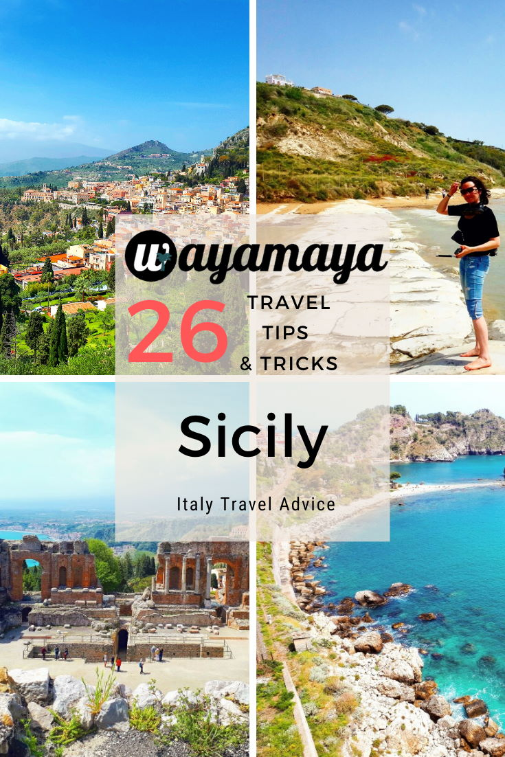 Wayamaya Sicily travel guide. 26 useful Sicily travel tips and tricks in Italy Sicily travel advice article: Sicily food, Sicily landscape, Sicily by car, where to go in Sicily, things to do in Sicily, best places to visit in Sicily, top things to see in Sicily, why visit Sicily, travel blog. Experience Sicily with us!
