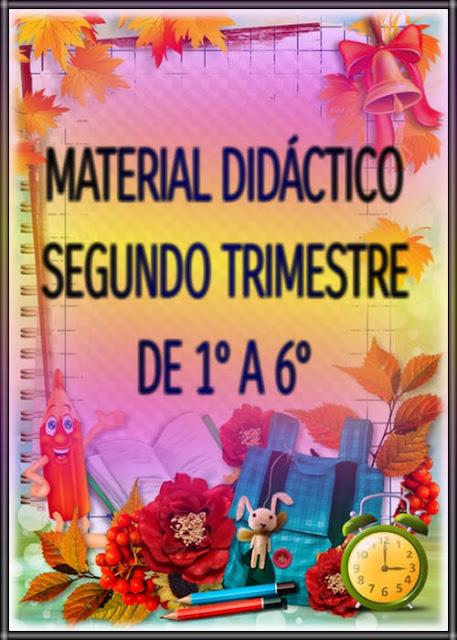 MATERIAL DIDÁCTICO-SEGUNDO TRIMESTRE-DE 1° A 6°