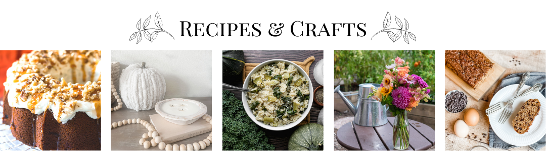 fall recipes and crafts collage