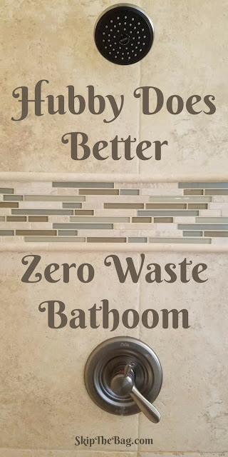 My Husband Does Better: A Zero Waste Bathroom | There are many ways to reduce waste in the bathroom, my husband appears to have me beat.