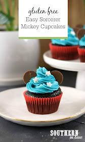 Easy Sorcerer Mickey Cupcakes Recipe - easy cake decorating ideas, disney cupcakes, mickey mouse, gluten free, best chocolate cupcakes recipe, kids birthday cake ideas, mickey cake tutorial