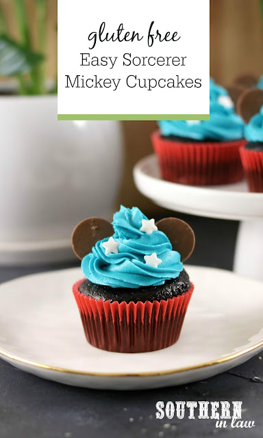 Easy Sorcerer Mickey Cupcakes Recipe - easy cake decorating ideas, disney cupcakes, mickey mouse, gluten free, best chocolate cupcakes recipe, kids birthday cake ideas, mickey cake tutorial
