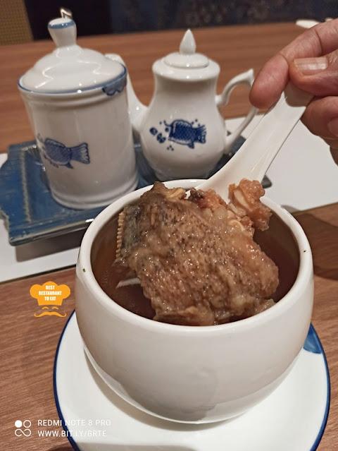 Dim Sum Menu - Nutritious Double-Boiled Soon Hock Fish Head Soup with Chinese Herbs 藥膳魚頭湯.