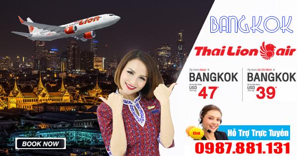 mua vé khuyến mãi đi Bangkok Thai Lion Air giá chỉ 39 usd