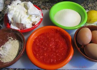 Tarta de queso y fresas