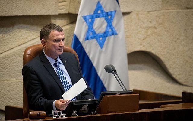 Azul e branco não quer  Edelstein como orador do Knesset