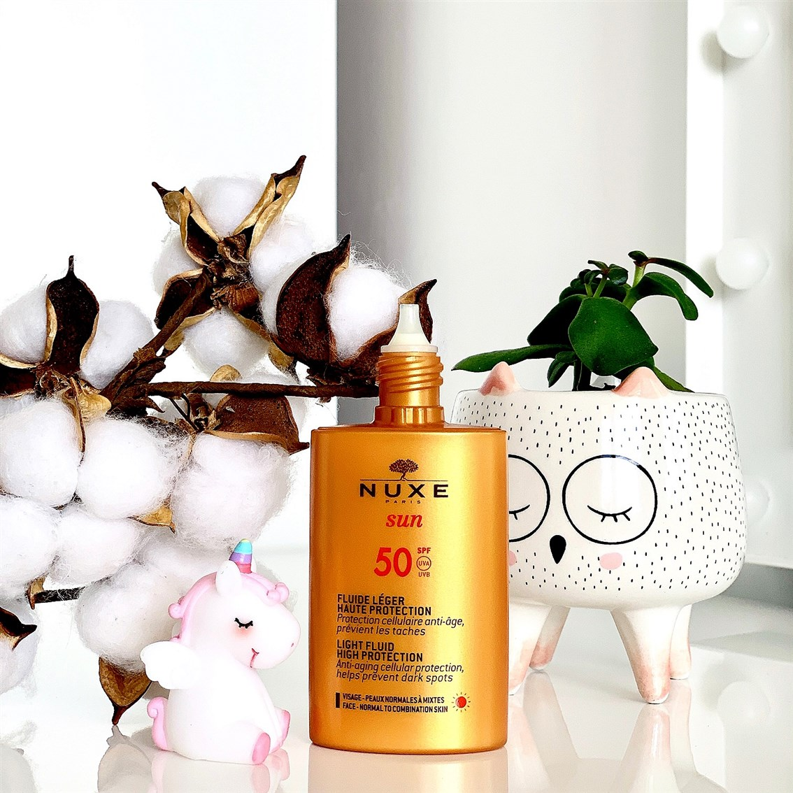 Nuxe Sun Lekki fluid o wysokiej ochronie SPF50 blog
