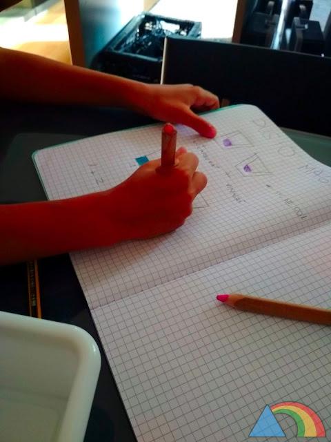 Anotando los resultados del experimento en la libreta de laboratorio