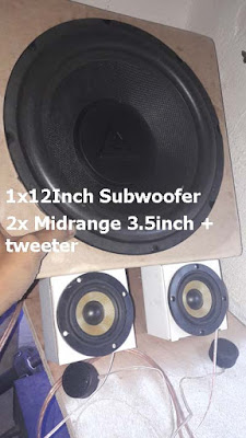 Subwoofer and midrange speakers