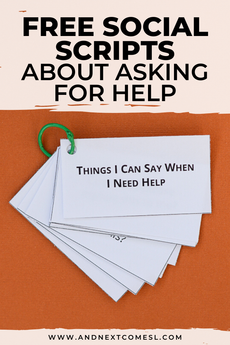 Free social scripts for autism about how to ask for help