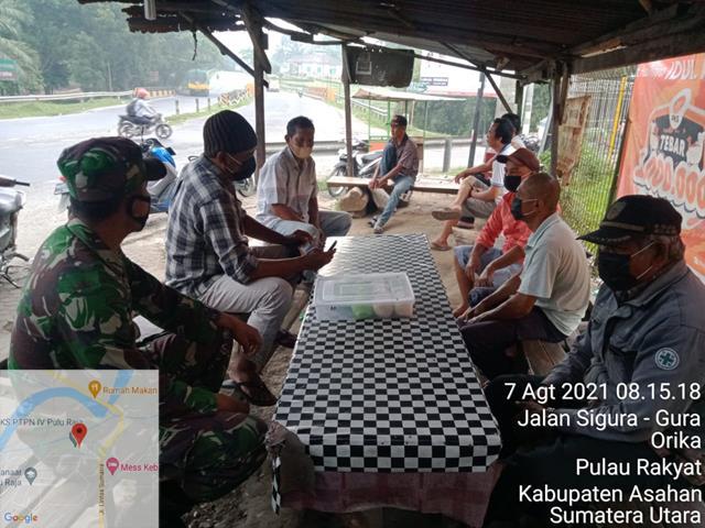 Personel Jajaran Kodim 0208/Asahan Laksanakan Komsos Dengan Warga Diwilayah Binaan