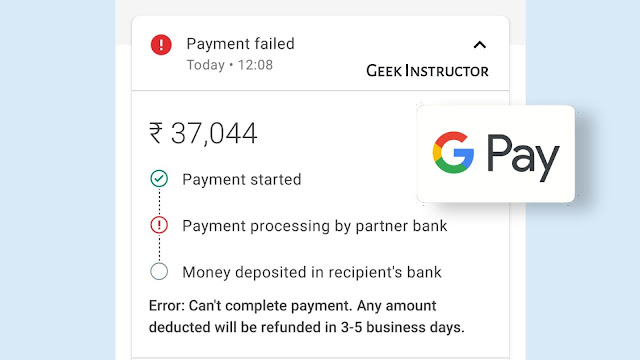 Fix payment failed or processing error on Google Pay