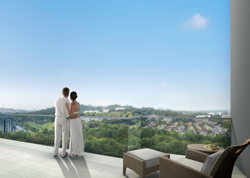 Hillion Residences Roof Terrace