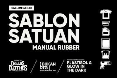 Sablon Kaos Satuan Manual Rubber dan Plastisol gk Murah tapi Lebih Awet