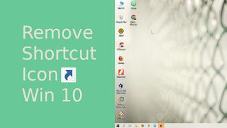 Menghilangkan Panah Pada Icon Shortcut Windows 10 Melalui Registry