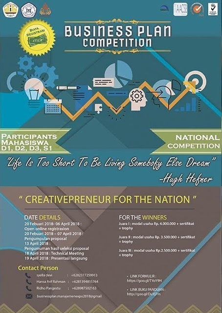 Lomba Business Plan Competition 2018 Unila