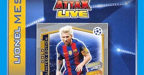 Match Attax Champions League 2017 Limited Edition Sanchez /& Messi /& Aubameyang